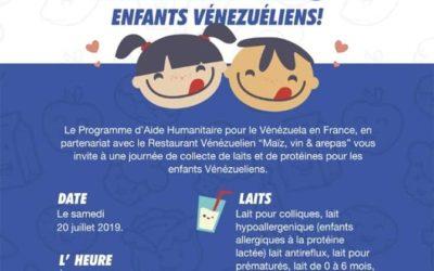 Appel à dons pour le Venezuela